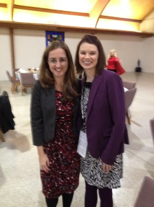 After being interviewed all day at a writers conference, I enjoyed spending time with new friends at a banquet. This is author Kristen Hogrefe who taught one of the classes.