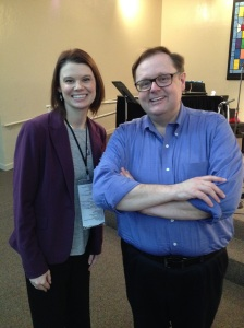 After being interviewed all day by editors and agents, I got to meet journalist and best-selling author Todd Starnes. Glad I dressed nice!